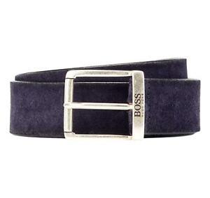 HUGO BOSS Cintura in pelle scamosciata Modello Joni-Sd_Sz35 - 50419390