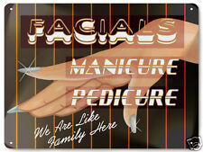 BEAUTY SHOP MANICURE METAL SIGN / nail salon facials Hair stylist make up 020