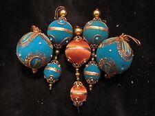 Vintage Handmade Beaded, Ribbon, Satin Christmas Ball Ornaments