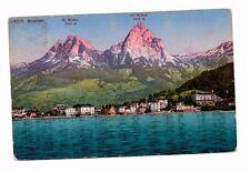 Switzerland - Brunnen, Kleiner und Grossen Mythen - Postcard Franked 1924