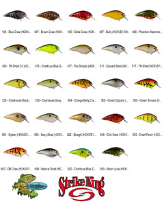 Strike King Crankbaits (HCKVD1.5HK) KVD 1.5 Square Bill HARD KNOCK Any 31 Colors