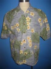 Jamaica Jaxx Blue Yellow Floral Heavy Silk Hawaiian Camp Shirt XL Mint