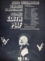 PUBLICITÉ DE PRESSE 1966 RTL RADIO LUXEMBOURG JOURNÉE EDITH PIAF