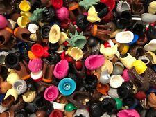 LEGO LOT OF 15 NEW RARE MALE & FEMALE MINIFIGURE HAIR WIGS BROWN BLONDE BEARD