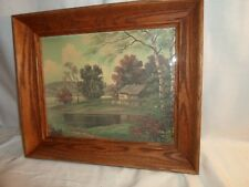 oak picture frame, 8 by 10 inches, Cottage print  # 1283
