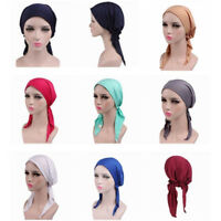 Women's Bandana Head Scarf Turban Pre-Tied Headwear Chemo Hat Tichel for Cancer