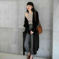 Women's Cardigan Coat Long cloak knitted Cashmere Sweater Warm Winter Loose