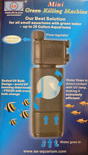 MINI AQUARIUM UV FILTER STERILIZER CLOUDY GREEN WATER TREATMENT TROPICAL MARINE
