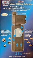 Mini aquarium filtre uv stérilisateur opaque vert de traitement de l'eau tropical marin