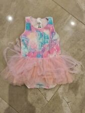 Bonds Baby Girl Pink White Aqua & Purple Tutu Dress Size 1 (As new)