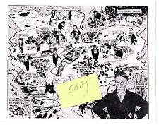 SHOCK THEATER ZACHERLEY 1958-59 GLOSSY HORROR MONSTER TV PHOTO MAP TRANSYLVANIA