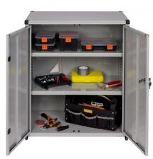 XL Metallschrank Werkzeugschrank Werkstattschrank Büroschrank 80x44x93 cm Grau