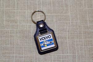 Volvo 200 240 Keyring - Leatherette & Chrome Keytag