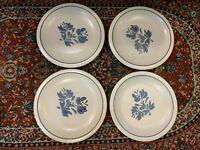 "VINTAGE PFALTZGRAFF YORKTOWNE LOT 5 10"" DINNER PLATES WHITE BLUE FLORAL CASTLE"