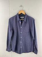 Just Jeans Men's Long Sleeve Button Up Custom Fit Shirt Size S Blue White Check
