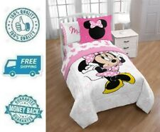 New Twin Disney Minnie Mouse Bed in a Bag Bedding Sheet Pillowcase Comforter Set