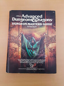 Official Advanced Dungeons & Dragons Dungeon Masters Guide Gary Gygax 1979 R