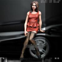 1/24 Korean skirt car girl Resin Kits Unpainted Figure Model GK Unassembled