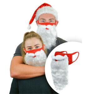 1/2/3X Santa Beard Face Mask Claus Christmas Xmas Mouth Covers Ornaments Unisex