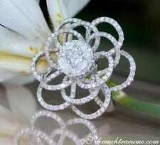 Reinheit VS Echte Diamanten-Ringe aus Weißgold mit Brilliantschliff