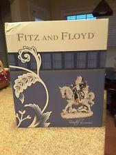 Fitz And Floyd Bristol Holiday Santa On Horse Figurine – New!