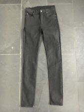 Nouveau bon marché MONDAY UK10 W28 L32 Ladies jet black denim stretch Skinny Jeans EX détenu