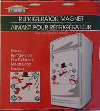 New Christmas House Refrigerator, Car, Dishwasher, Metal Doors Magnets ~ Snowman