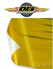 """DEI 010391 REFLECT A GOLD THERMAL 12"""" x 12"""" SHEET TAPE ENGINE HEAT BARRIER WRAP"""