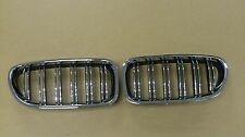 Front Kidney Grille Chrome-Black M5-Look For BMW F10,F11,F18 5-Series