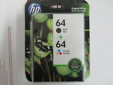 HP 64 Black & Tri-color Ink Cartridge Twin 2-pack OEM X4D92AN EXP. 06/21 SEALED