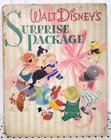 Vintage WALT DISNEY'S SURPRISE PACKAGE Book, 1944 First Printing, Pre-Owned