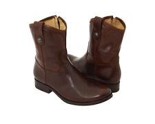 New FRYE Women's Melissa Button Short Boot Dark Brown 7