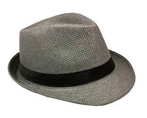 Straw Fedora Hat - Summer Fashion Straw Plain Color Fedora Hats Unisex Hat