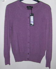 M&S AUTOGRAPH PURE CASHMERE LONG SLEEVE CARDIGAN-LILAC  RRP£89 SIZE 8 BNWL