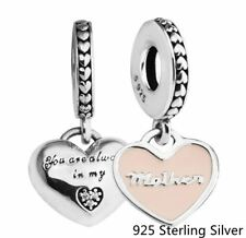 MOTHER & DAUGHTER SOFT PINK .925 Sterling Silver European Charm Bead N1