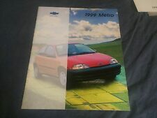 1999 Chevy Chevrolet Metro like Suzuki Swift Color Brochure Catalog Prospekt