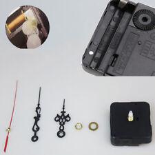 1Set Black Quartz Movement Mechanism Silent Wall Clock Hands DIY Part Kits Tools