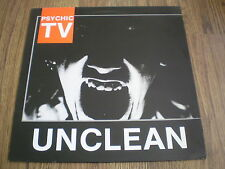 PSYCHIC TV - UNCLEAN LP A1 B1 1984 TEMPLE INC INSERTS BARELY PLAYED NEAR MINT