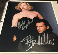 Autograph MOONLIGHTING Dual -  SHEPHERD &  Bruce WILLIS - 8x10 In Sliver