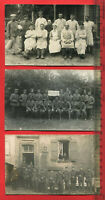 3 x Orig. Militär Foto AK 1.WK, Soldatenn Infanterie, Feldartillerie ( 64056