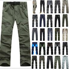 Men Climbing Hiking Long Pant Fishing Outdoor Tactical Cargo Summer Long Trouser