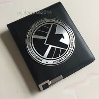 The Avengers Agents of S.H.L.E.L.D Shield Badge in Leather Wallet or Holder Case