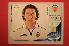 PANINI CHAMPIONS LEAGUE 2012/13 N. 402 GUARDADO VALENCIA BLACK BACK MINT!