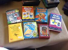 Lot of Six Card Games- 1 Puzzle - Great Lot of Unique Games!