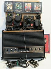 Atari 2600 6-Switch Console Lot Bundle 4 Games WORKING! Paddles Hookups Cleaned