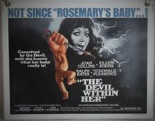 THE DEVIL WITHIN HER ROLLED ORIG HALF-SHEET MOVIE POSTER JOAN COLLINS (1975)