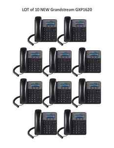 LOT of  10 New Grandstream GXP1620 2-Line HD - 2 SIP - IP Phone - FREE SHIPPING