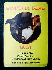 Grateful Dead Backstage Pass Dog Pooch Giants Stadium New Jersey 8/4/1994 NJ NY