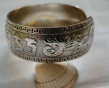 Pulsera Brazalete de plata tibetana maravillosamente grabado