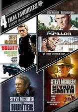 Steve McQueen 4 Favs (NEW! 4 SEALED DVDs PAPILLON, HUNTER, NEVADA SMITH, BULLITT